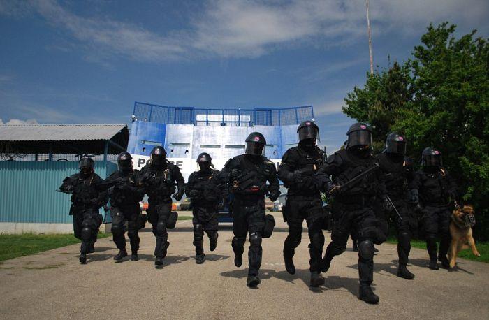 Передвижной щит для борьбы с массовыми беспорядками