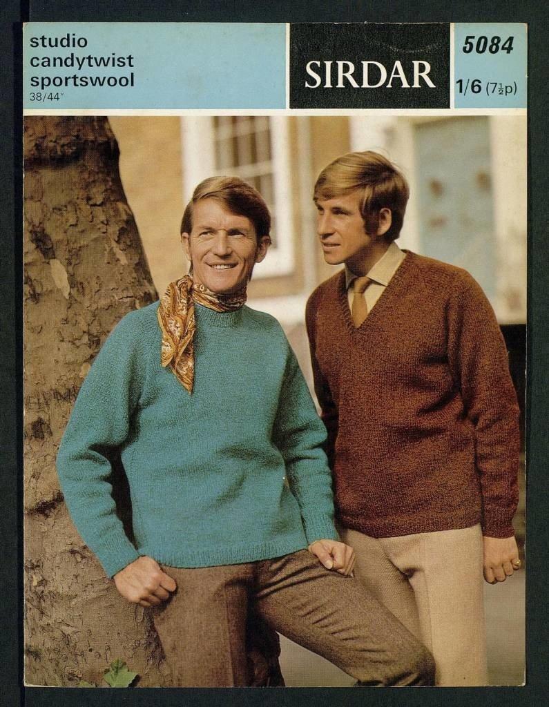 Винтажные журналы с мужчинами в вязаных одеждах