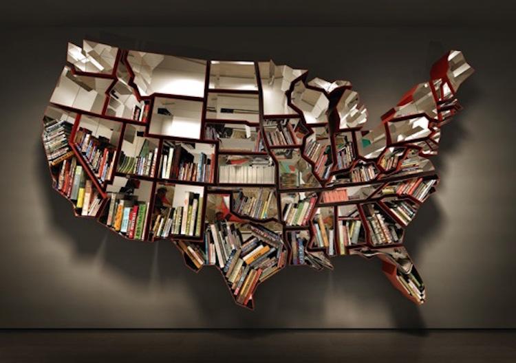 Необычные креативные книжные шкафы и полки