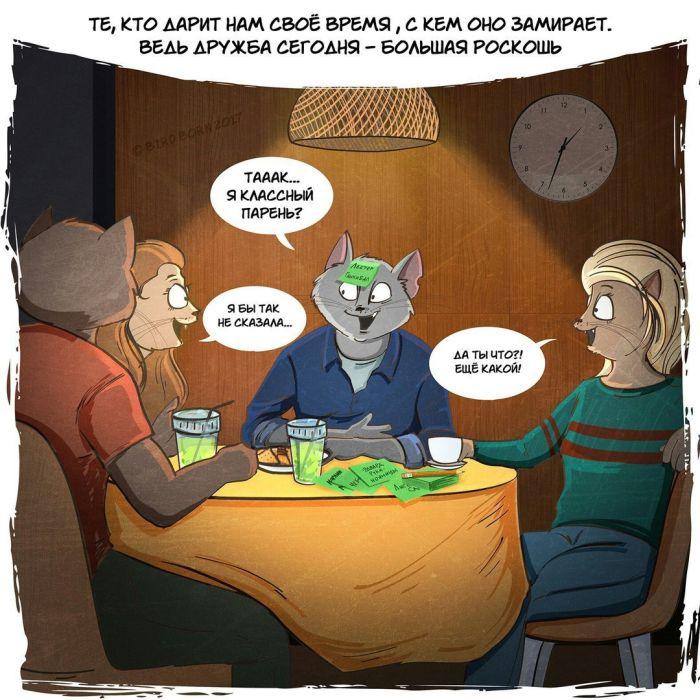 О быстротечности времени и коты