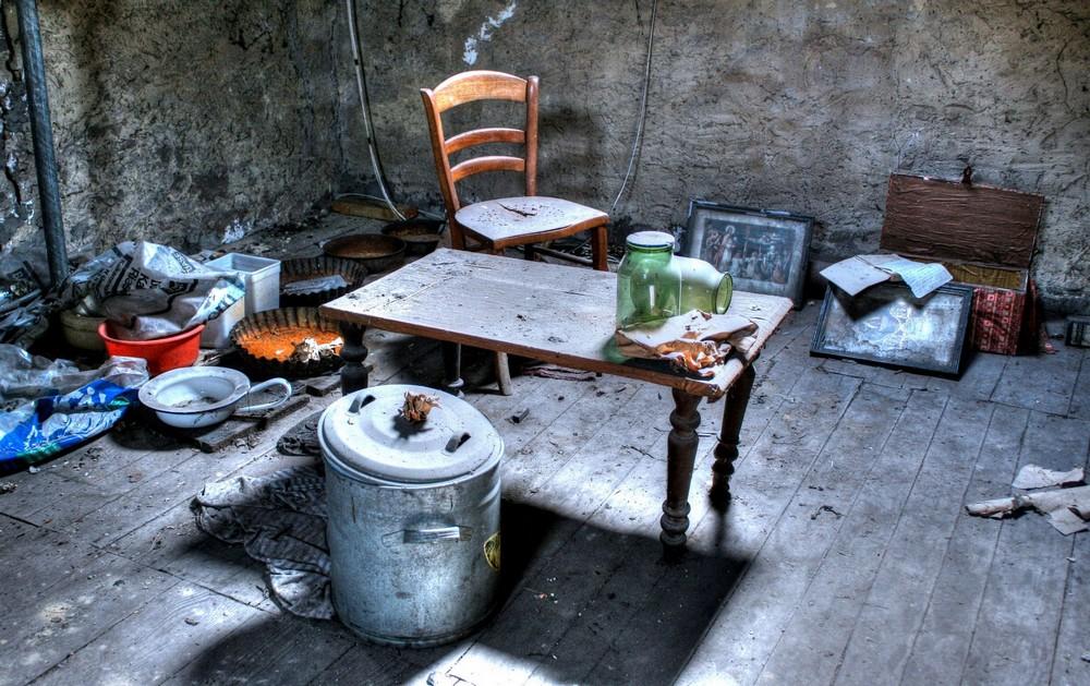 Дом в Люксембурге, брошенный во времена Второй мировой войны