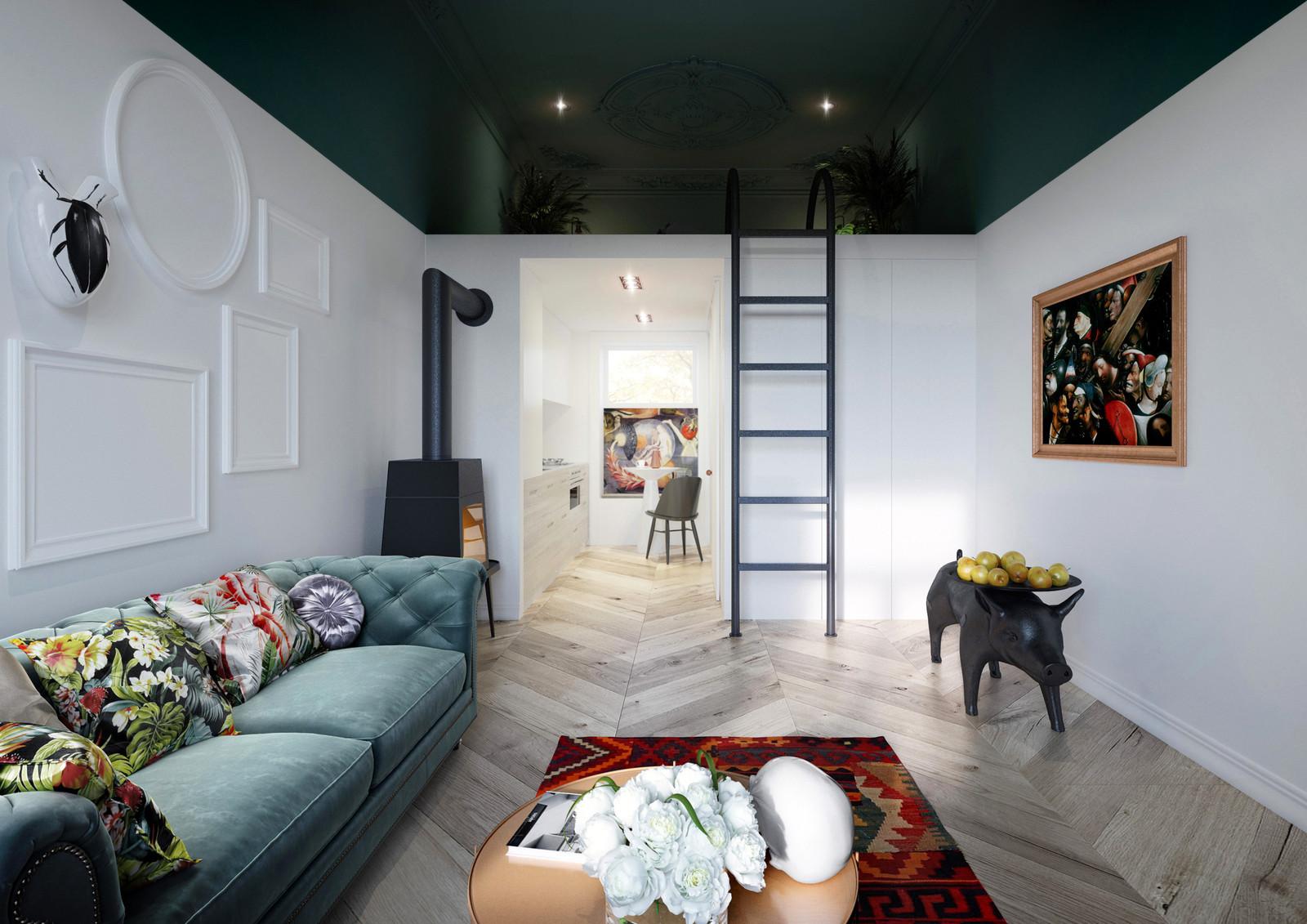 Интерьер квартиры площадью 30 квадратных метров в Польше