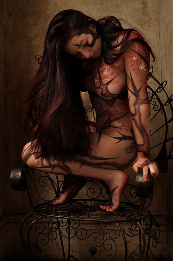 Красивые девушки и боди-арт