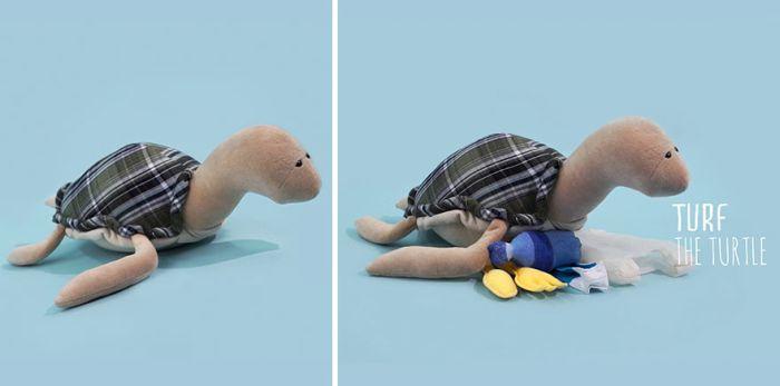 Мягкие игрушки, набитые игрушечным мусором