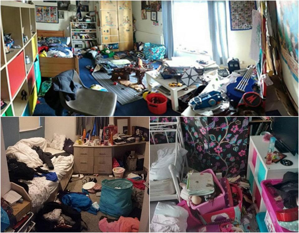 Грязные комнаты британских студентов