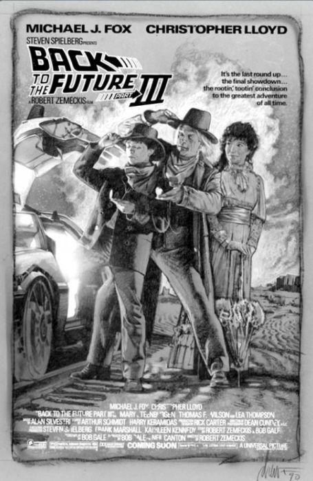Как создавали постер к фильму Назад в будущее