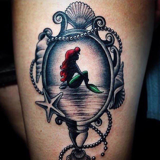 Сказочные татуировки с диснеевскими принцессами