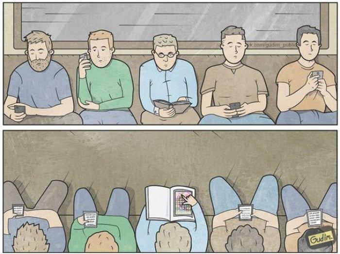 Сатирические картинки о современной жизни