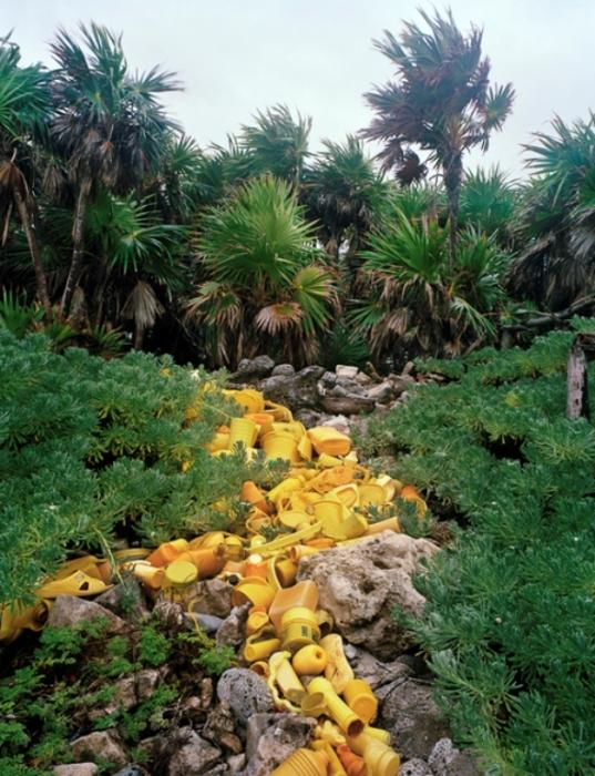 Необычные инсталляции из мусора, найденного на побережье океана