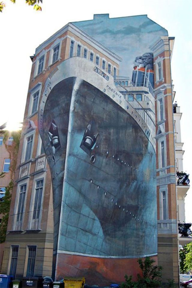 вашим чутким рисунки на зданиях фото девяткин известен