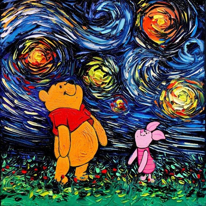 Художница создала серию картин в стиле Ван Гога