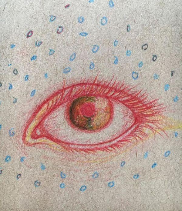 Рисунки девушки, страдающей шизофренией