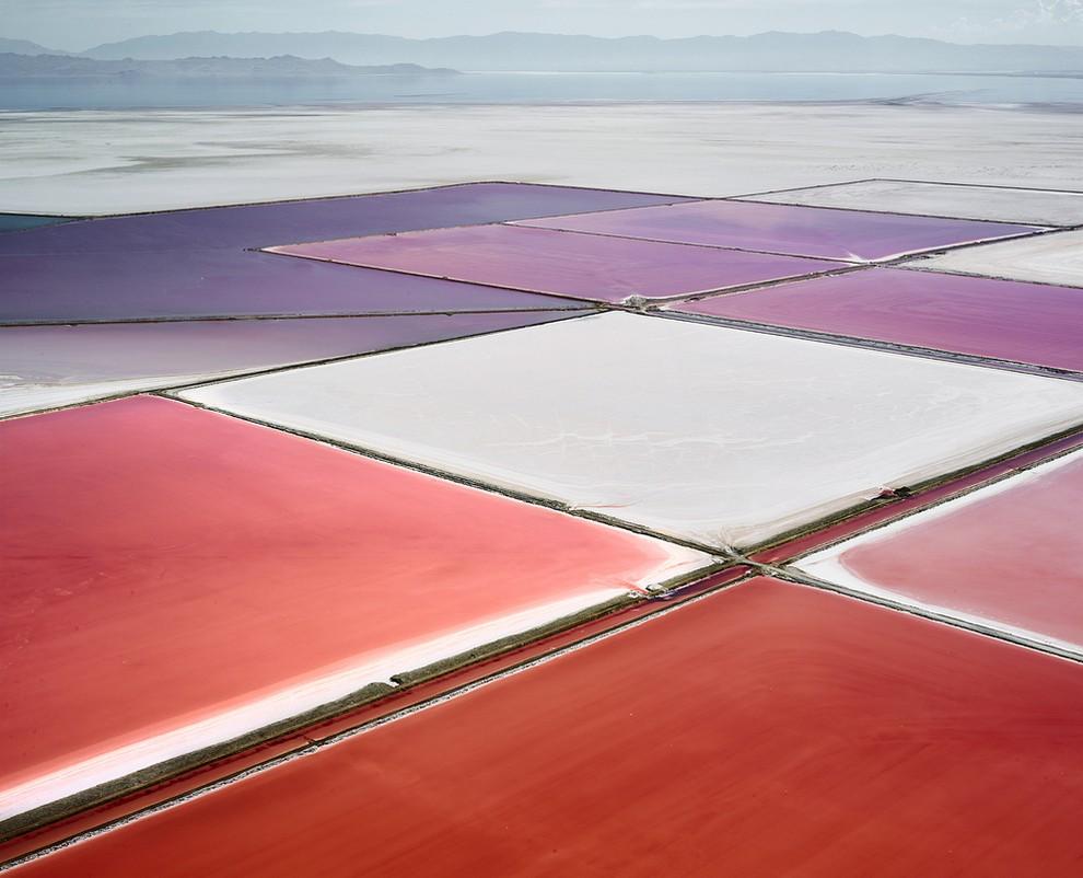 Соляные поля Австралии и Северной Америки с высоты птичьего полета