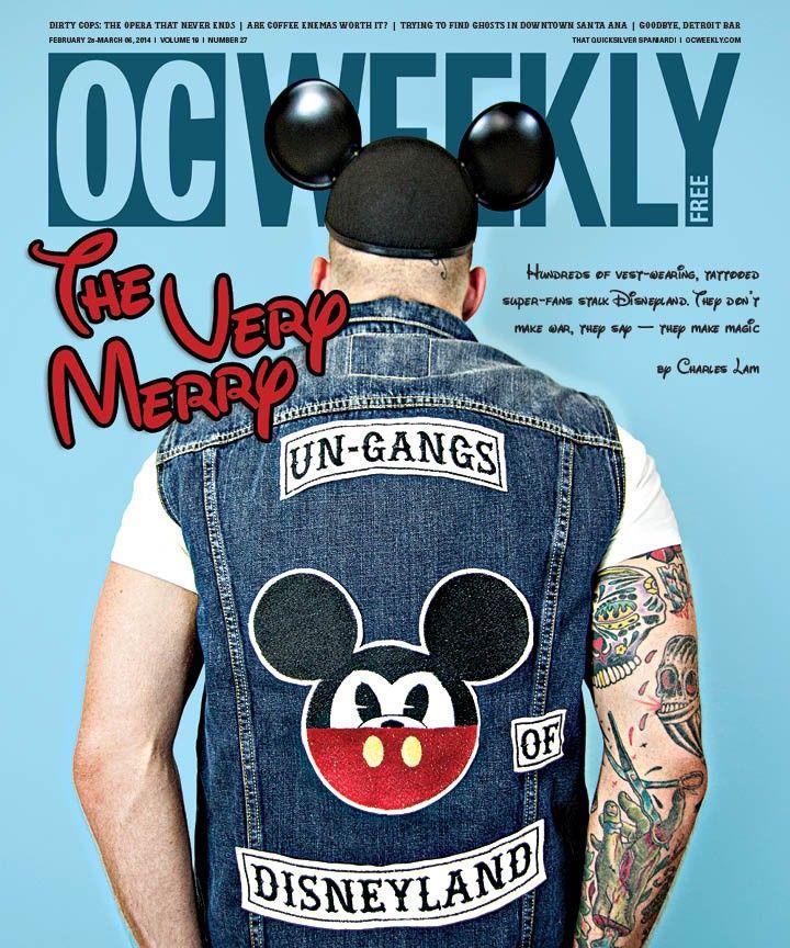 Дисней-байкеры с татуировками Микки Мауса