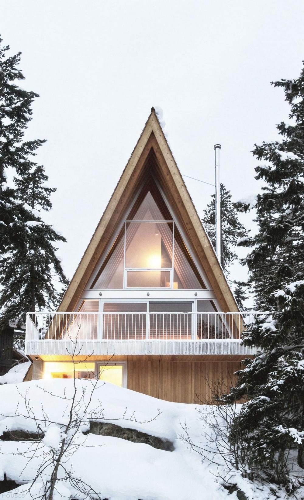 Дом для семьи сноубордистов в горах Канады