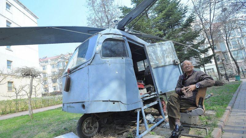 Пенсионер из Китая строил вертолет 10 лет, который так и не взлетел