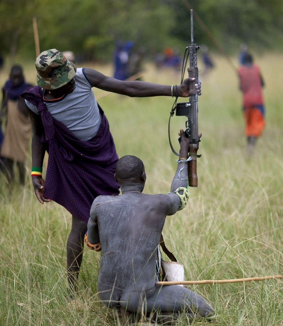 Жестокие бои на палках в Эфиопии