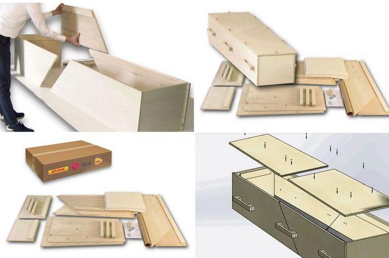 Новая услуга: разборный гроб по почте