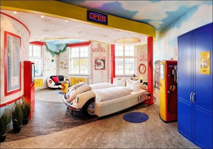 Тематический отель, где можно заснуть в автомобиле