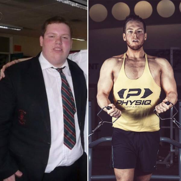 Мужчины, поборовшие лишний вес