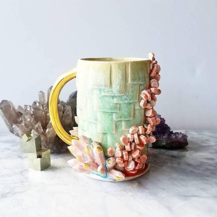 Кружки с кристаллами от Кэти Маркс