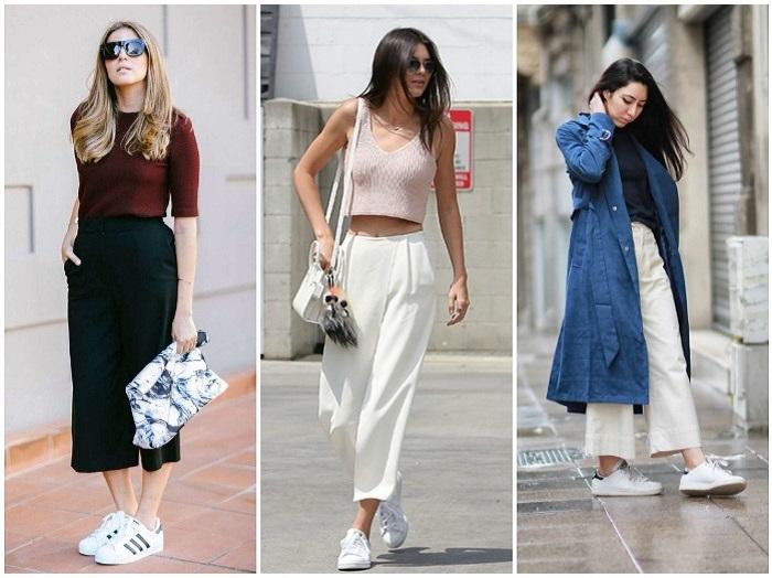 Как носить модные сегодня брюки-кюлоты