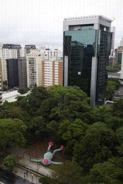 Обезьяна из шлёпок в Сан Паулу