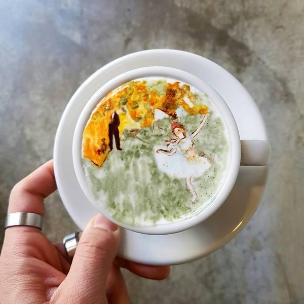 Корейский бариста радует посетителей оригинальным кофе