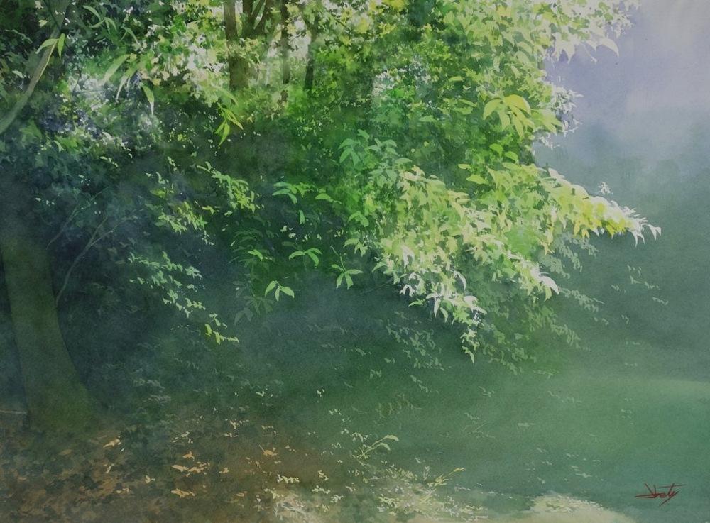 Красивые акварели Абе Тошиюки