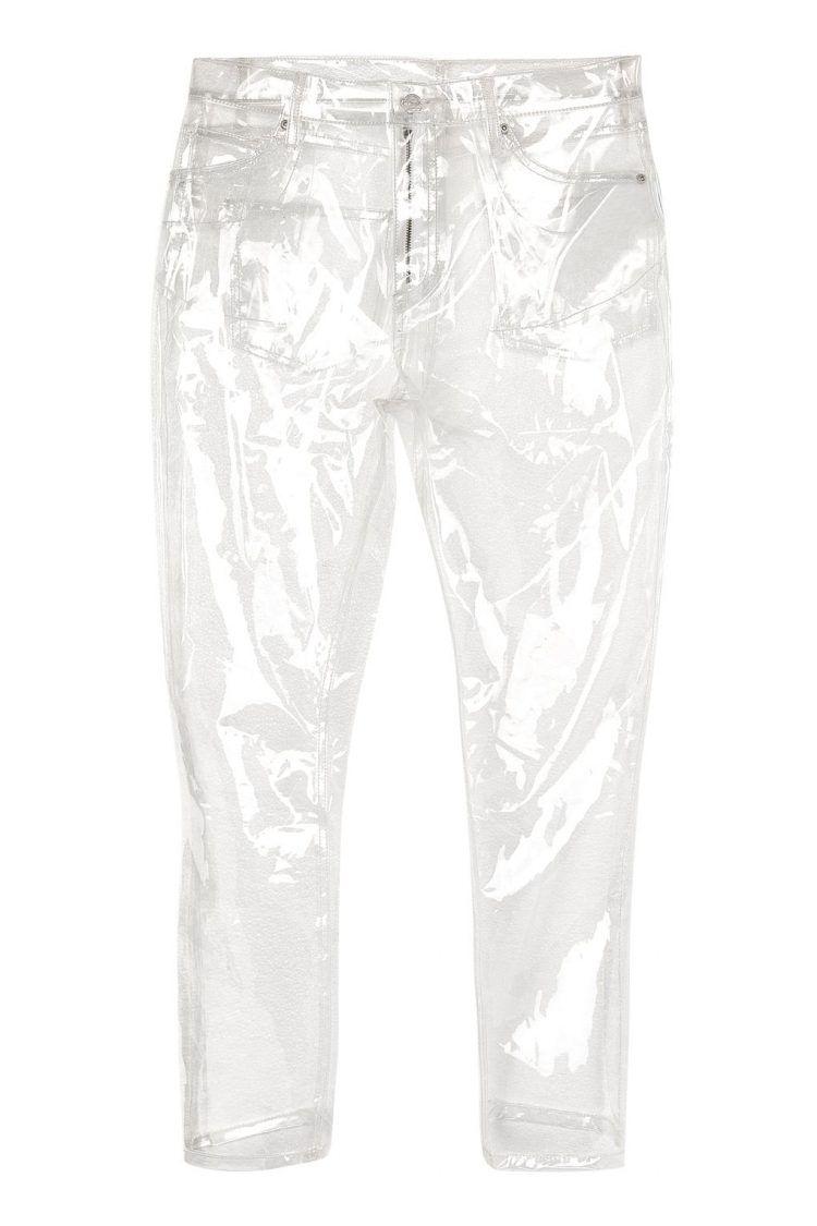 Прозрачные пластиковые штаны за сотню баксов