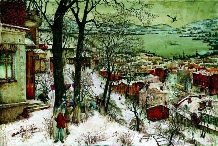 Владивосток в картинах Евгения и Оксаны Осиповых