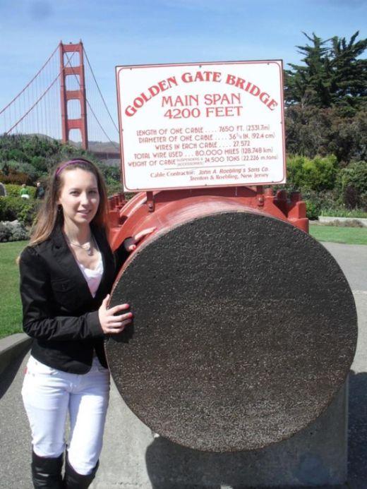 Трос моста Золотые Ворота в Сан–Франциско