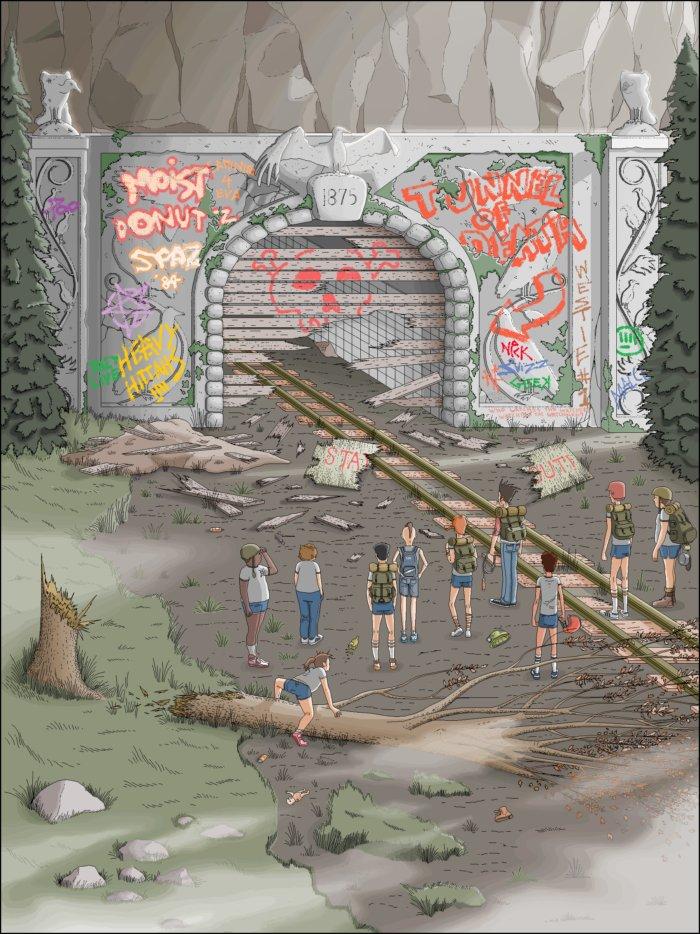 Парень 10 лет рисовал иллюстрации для своей книги в MS Paint