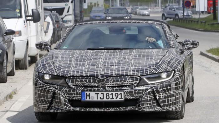 Совсем скоро на дорогах: BMW i8 Spyder