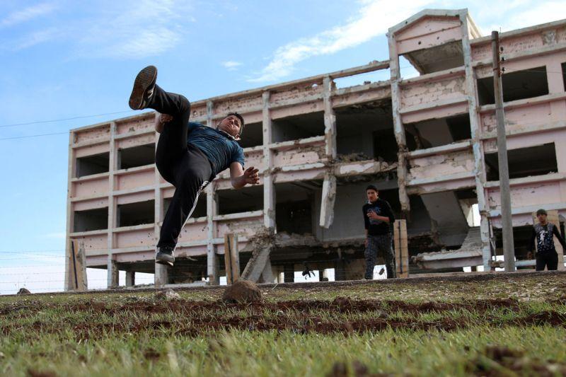 Паркур в охваченной войной Сирии