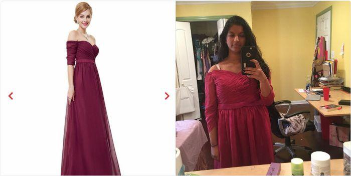 Платья, купленные в интернете: ожидание и реальность
