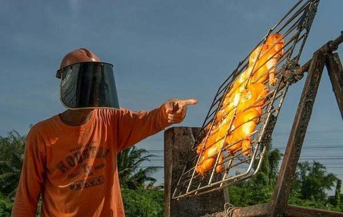 Жаровня на солнечных лучах