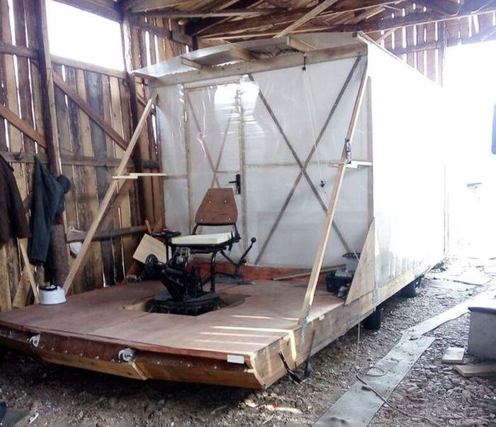 Самодельный мобильный дом на велотяге