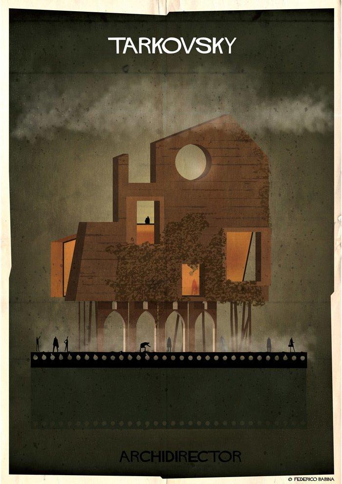 Если бы дома культовых кинорежиссёров строились по их собственным фильмам