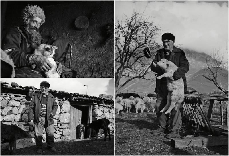 Местные жители в горах Северной Осетии