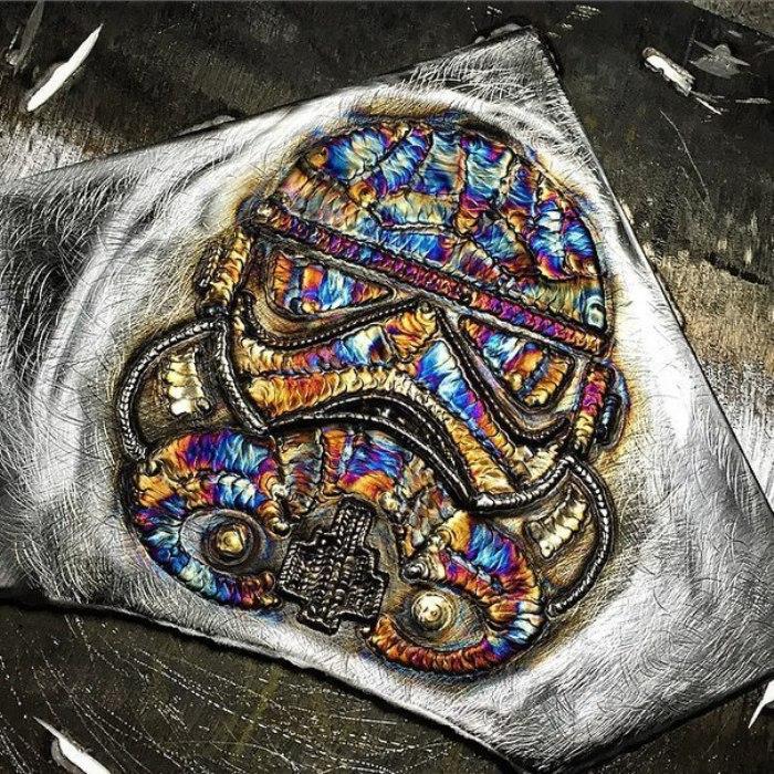 Картины из сварочных швов