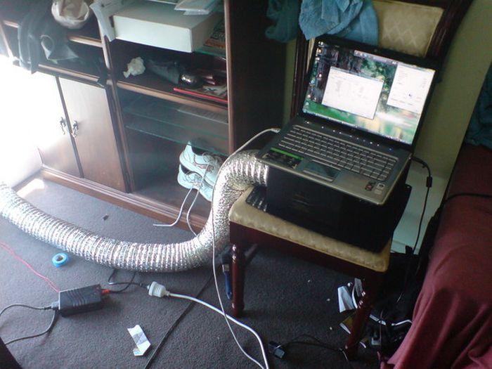 Необычные способы охладить компьютер летом