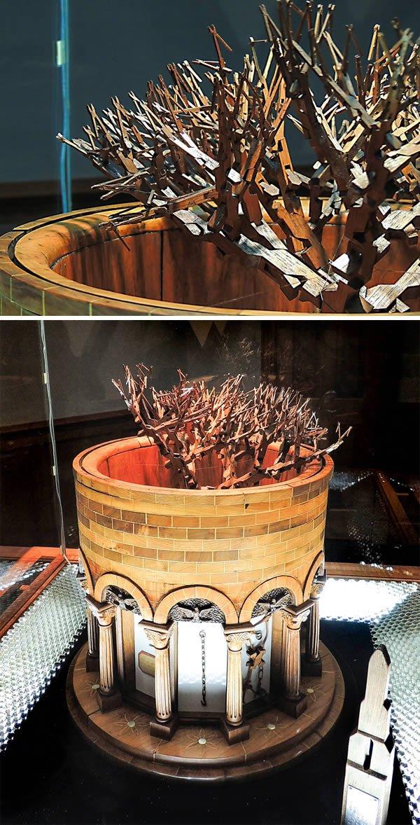 Скульптуры, созданные из цельного ствола дерева