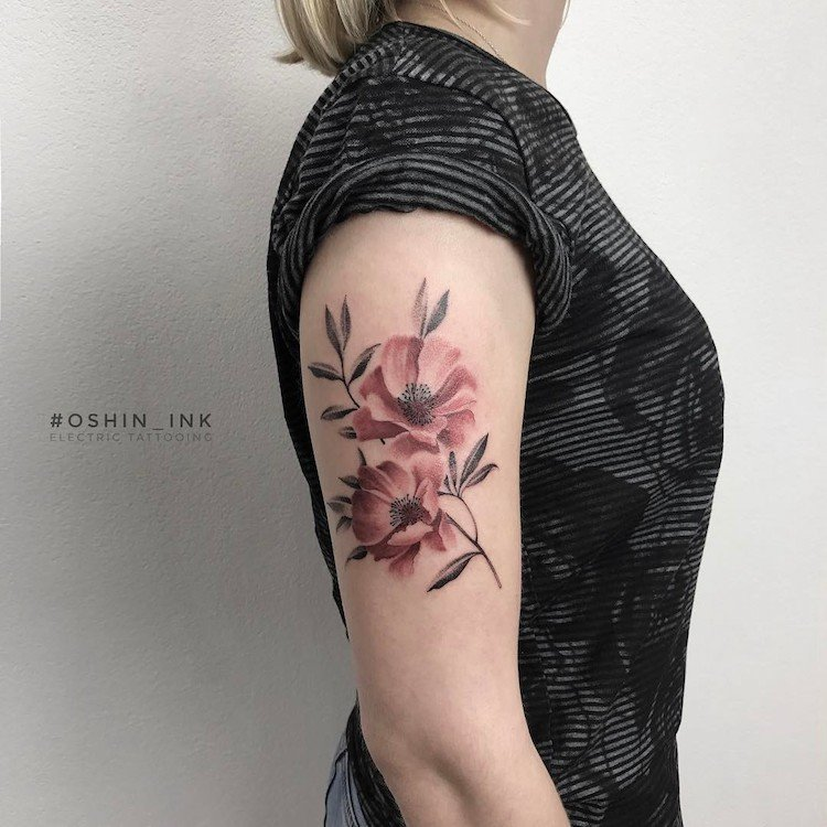 Татуировки от тату-мастера Oshin Timoshin, вдохновлённые природой