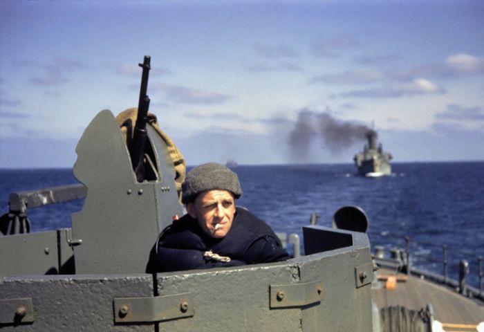 Атлантический конвой на фото Роберта Капы