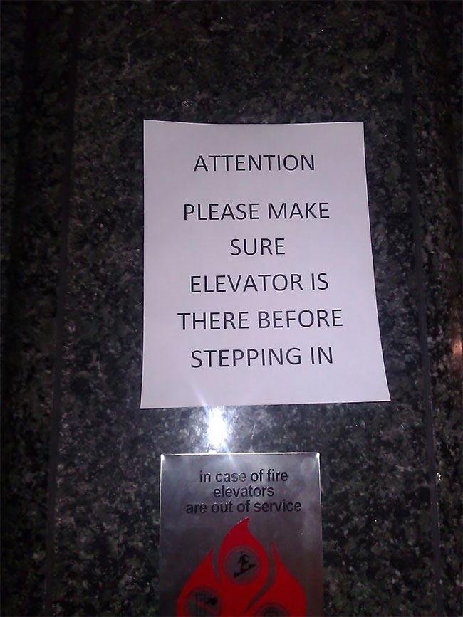 Забавные абсурдные знаки и таблички