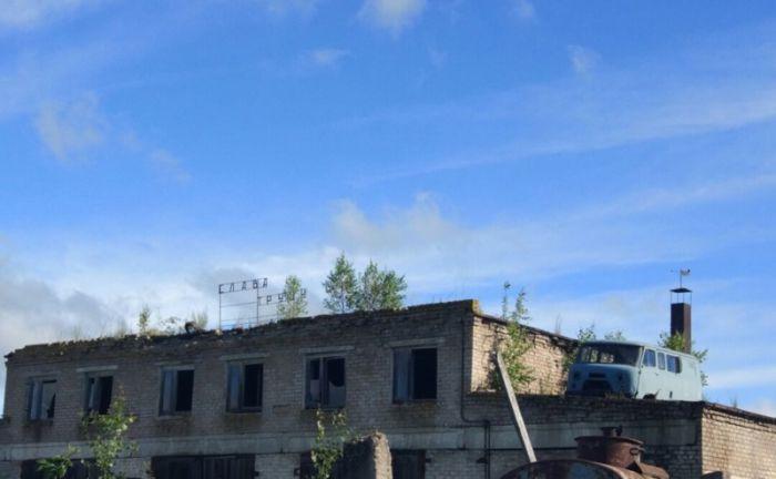 Автомобили на крышах