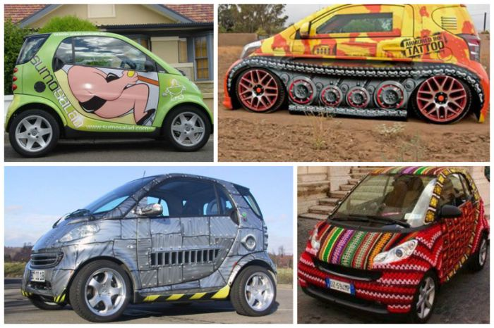 Яркие автомобили с крутыми рисунками