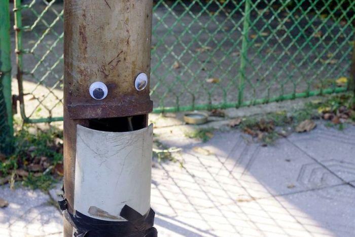 Забавные глаза на неодушевленных предметах