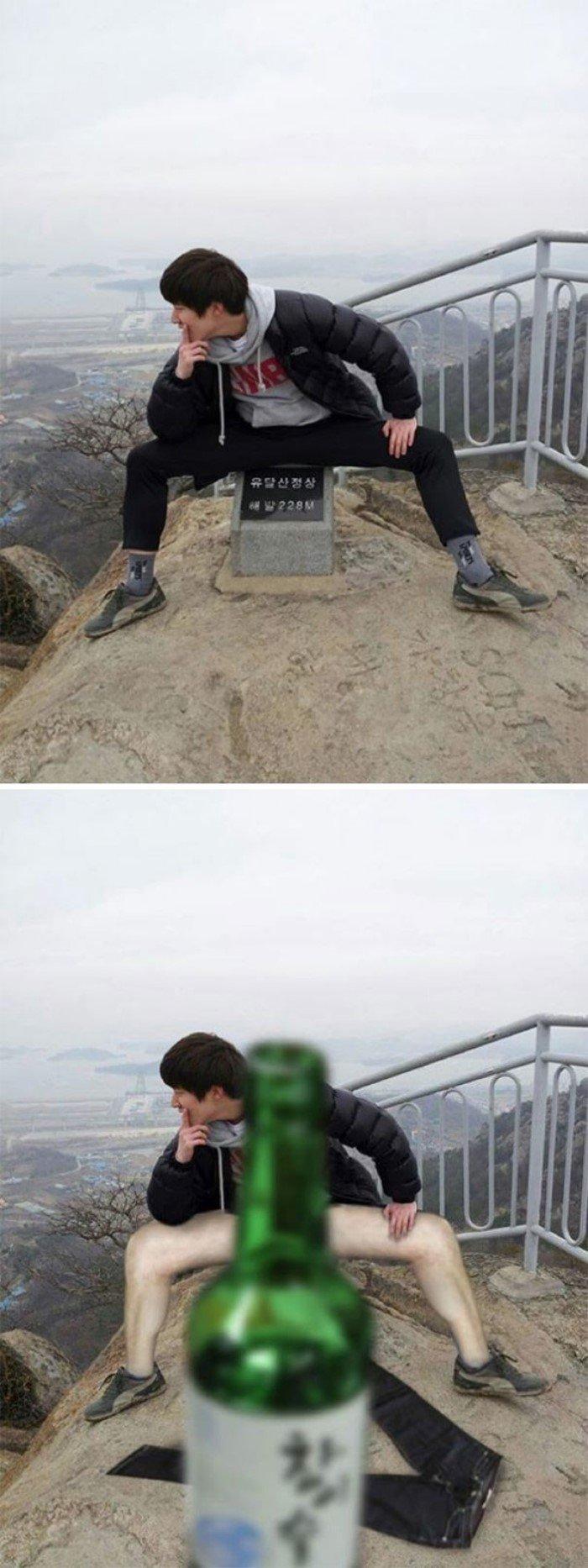 Забавный троллинг от корейских мастеров фотошопа